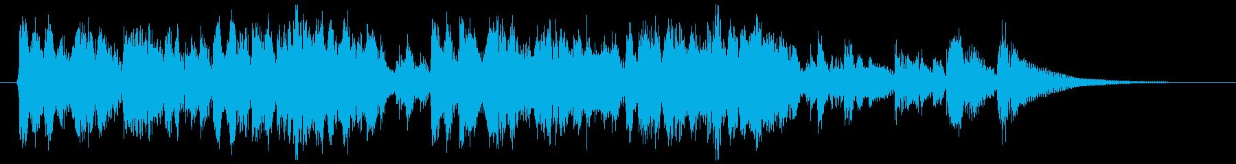かわいらしく軽快に駆け回る口笛のジングルの再生済みの波形