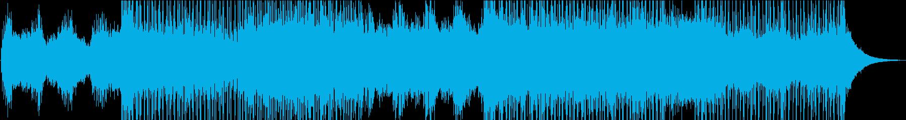 深く落ち着いた宇宙のようなサウンドの再生済みの波形