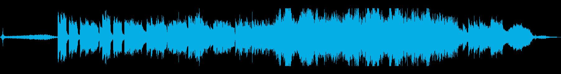生演奏《篠笛のしっとりした和風の曲》の再生済みの波形