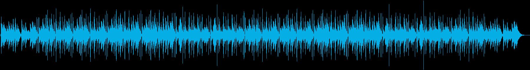 ジャズを基調にしたビートトラックの再生済みの波形