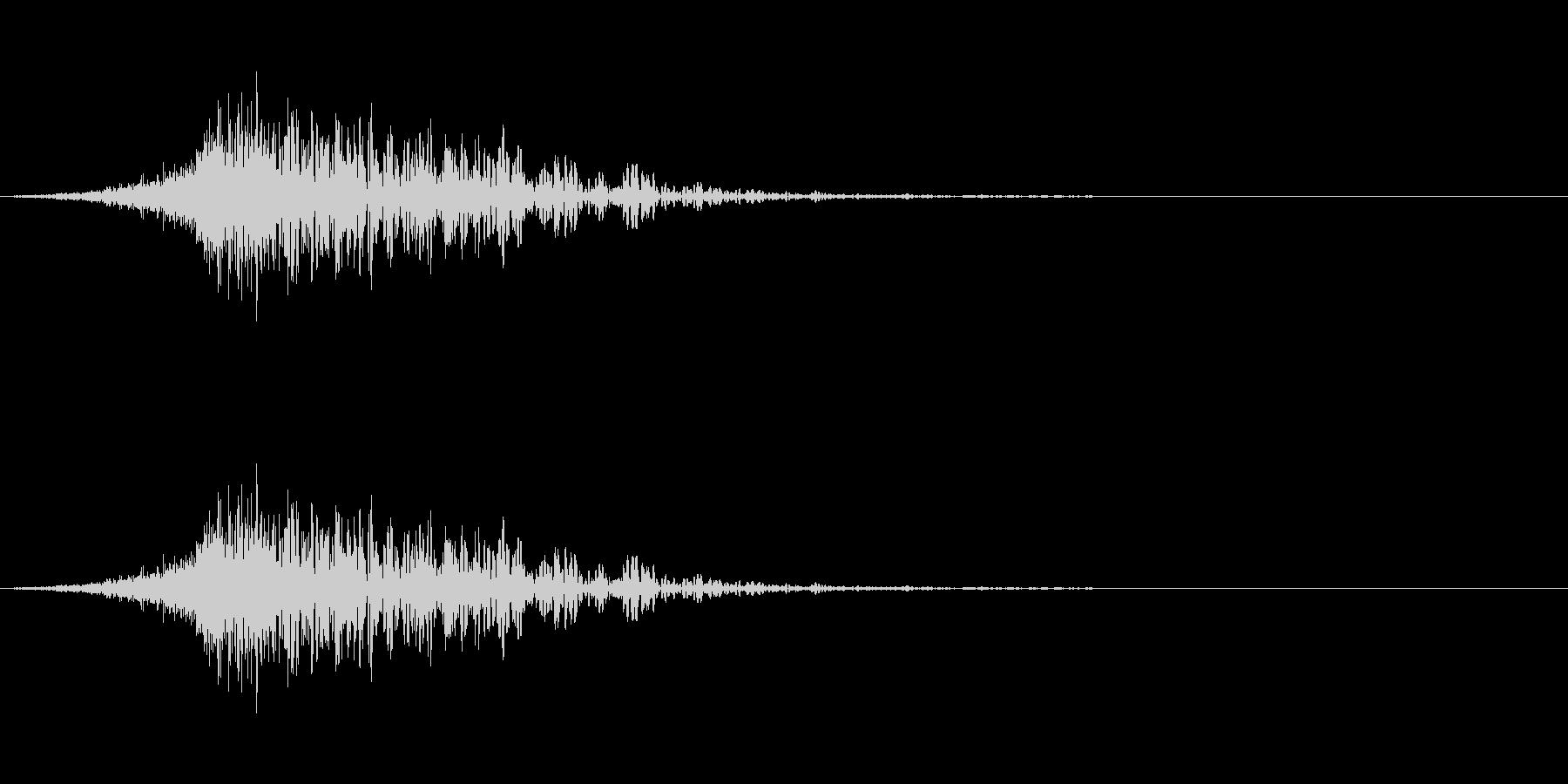 latigo 5をシューッという音の未再生の波形