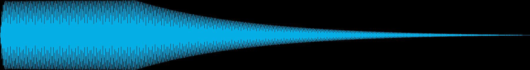 Sin シンプルなサイン波のタッチ音 2の再生済みの波形