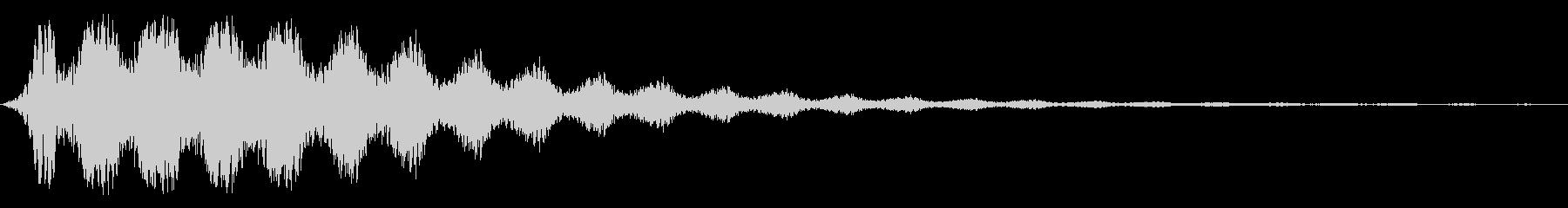 ボワワ〜(中音域で浮遊感がある)の未再生の波形