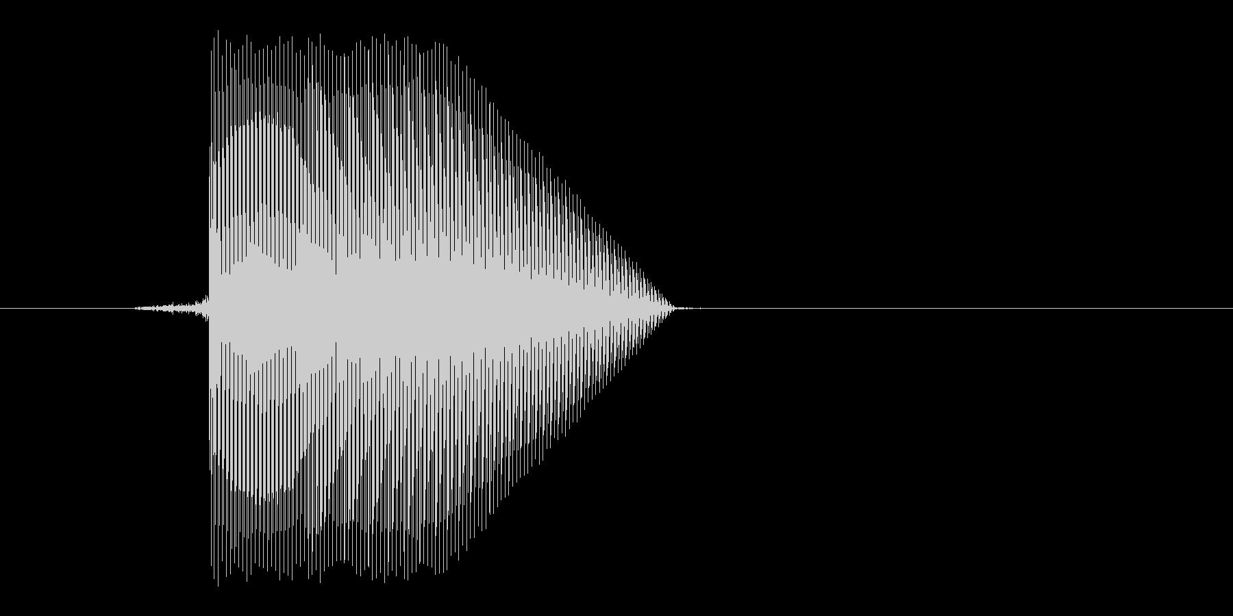 ゲーム(ファミコン風)ジャンプ音_012の未再生の波形