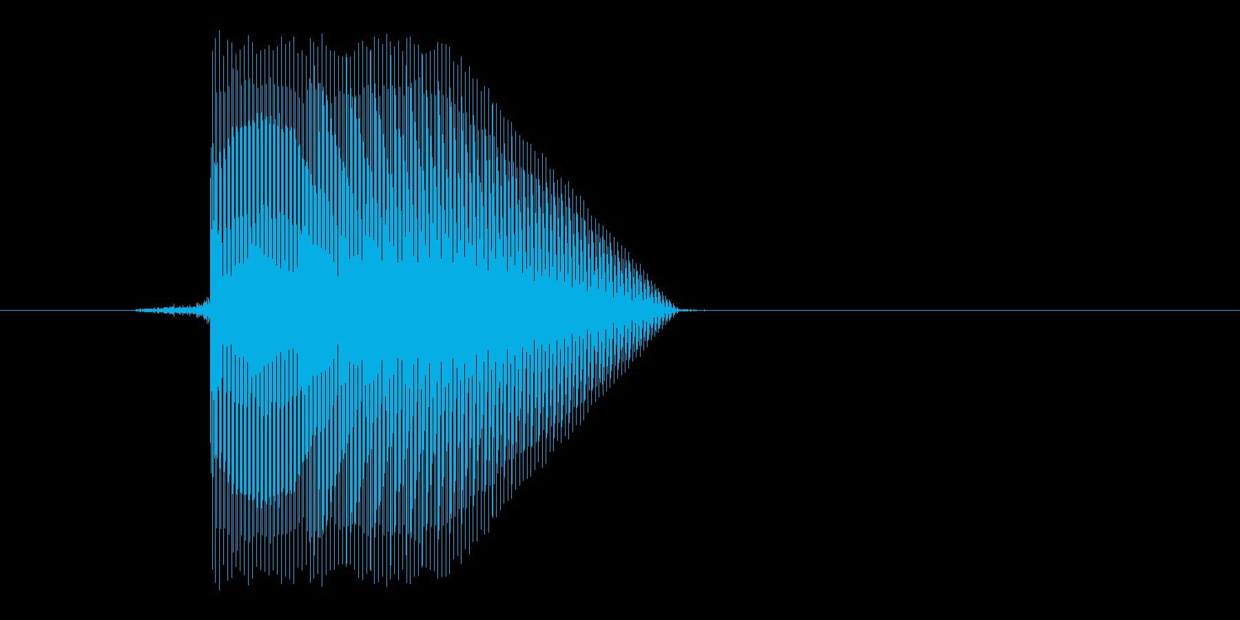 ゲーム(ファミコン風)ジャンプ音_012の再生済みの波形