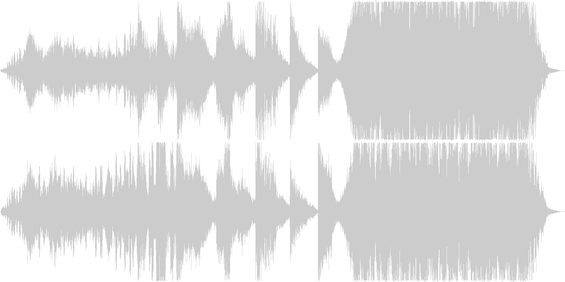 映画等,トレーラー/打楽器主体の未再生の波形