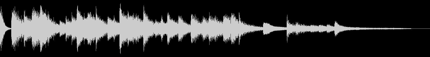 ボサノバ風のおしゃれなジングル・場面転換の未再生の波形