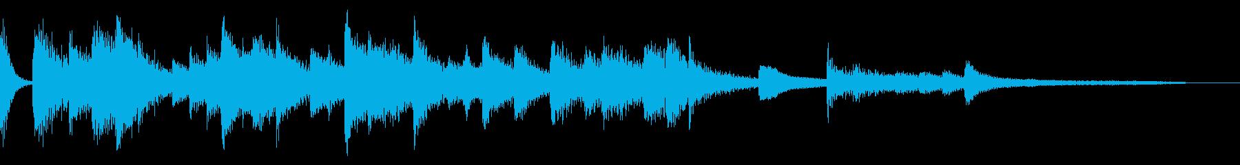 ボサノバ風のおしゃれなジングル・場面転換の再生済みの波形
