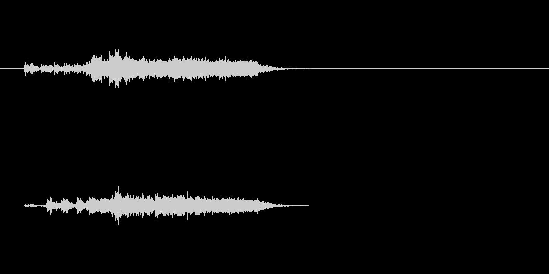 ジングル(近未来風サウンド)の未再生の波形