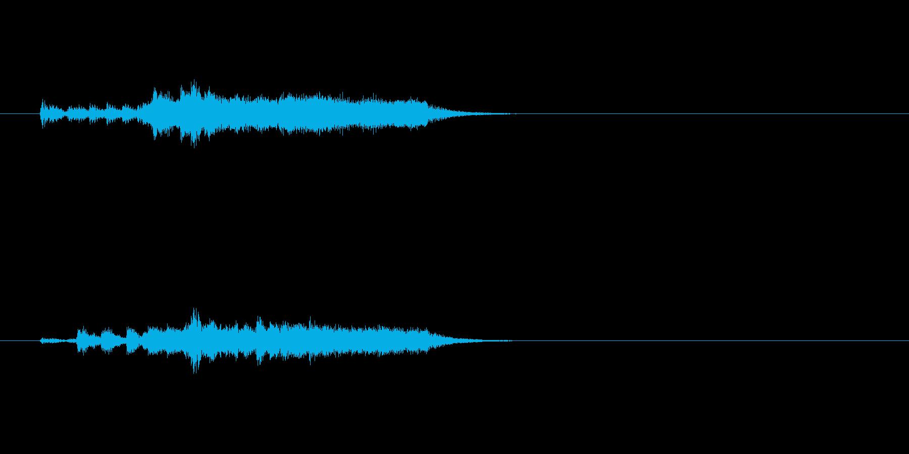 ジングル(近未来風サウンド)の再生済みの波形