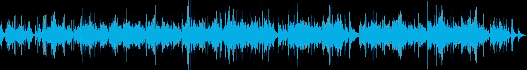 感動的で日本人が好きな雰囲気のピアノ曲の再生済みの波形