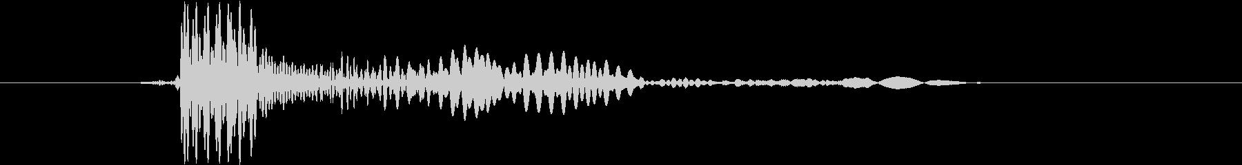 カーソル クリックの未再生の波形