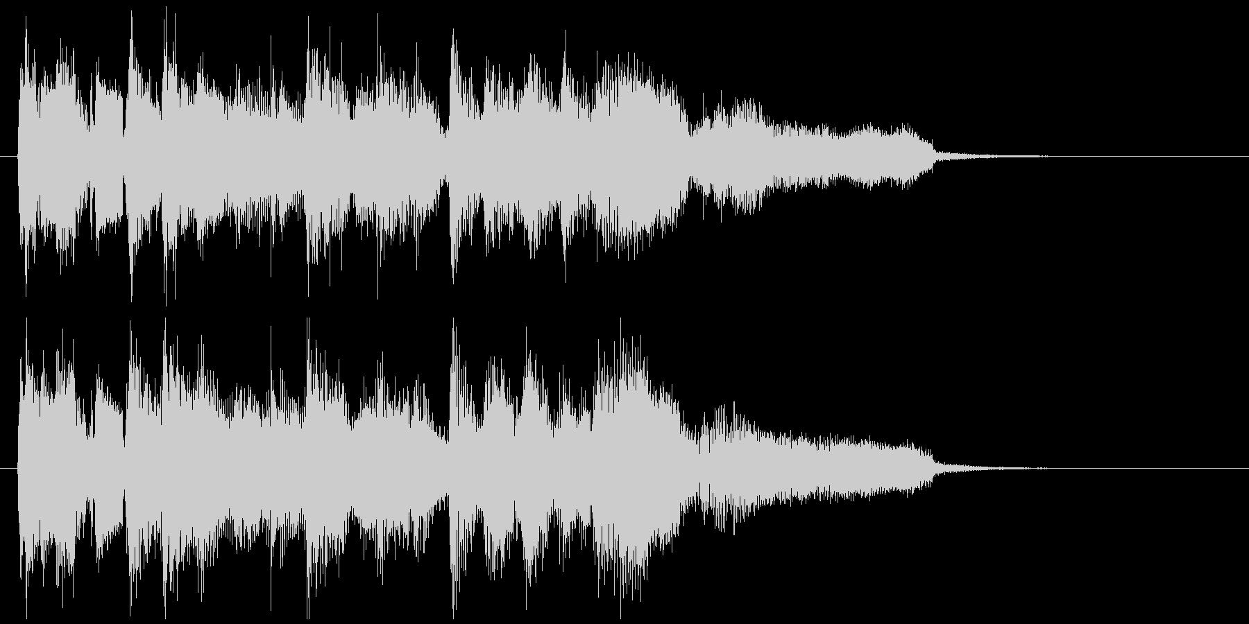 ジャズボサノバ系の爽やかなサウンドロゴの未再生の波形