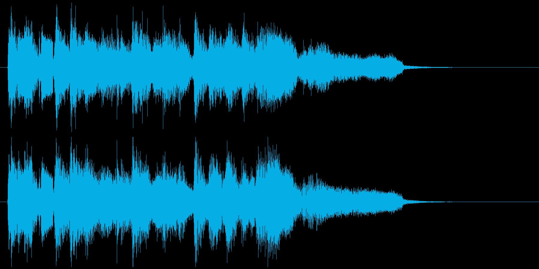 ジャズボサノバ系の爽やかなサウンドロゴの再生済みの波形