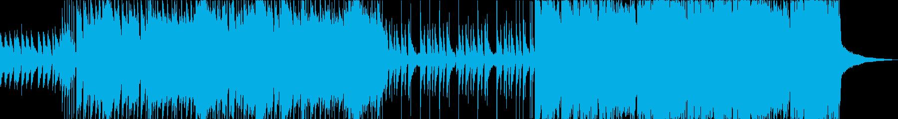 爽やかバイオリンとアコーディオンポップスの再生済みの波形