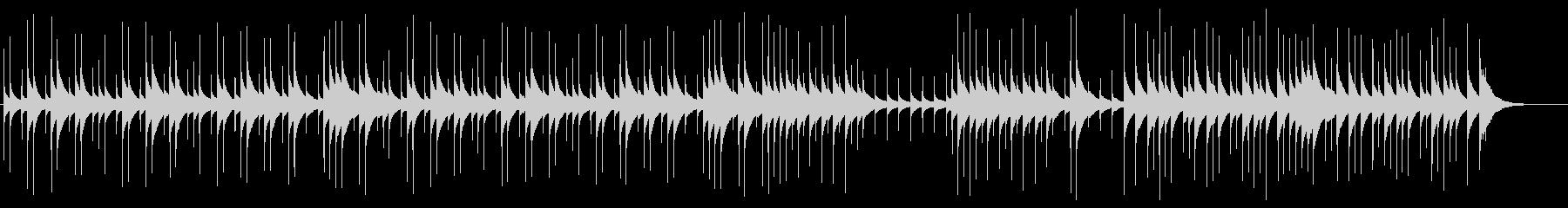 可愛くて癒される優しいオルゴールBGMの未再生の波形