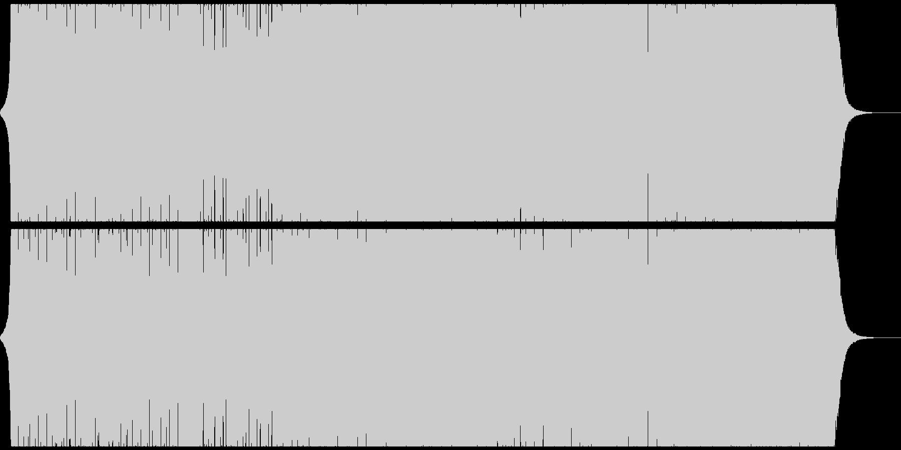 エキサイティングでキレのあるエレクトロの未再生の波形