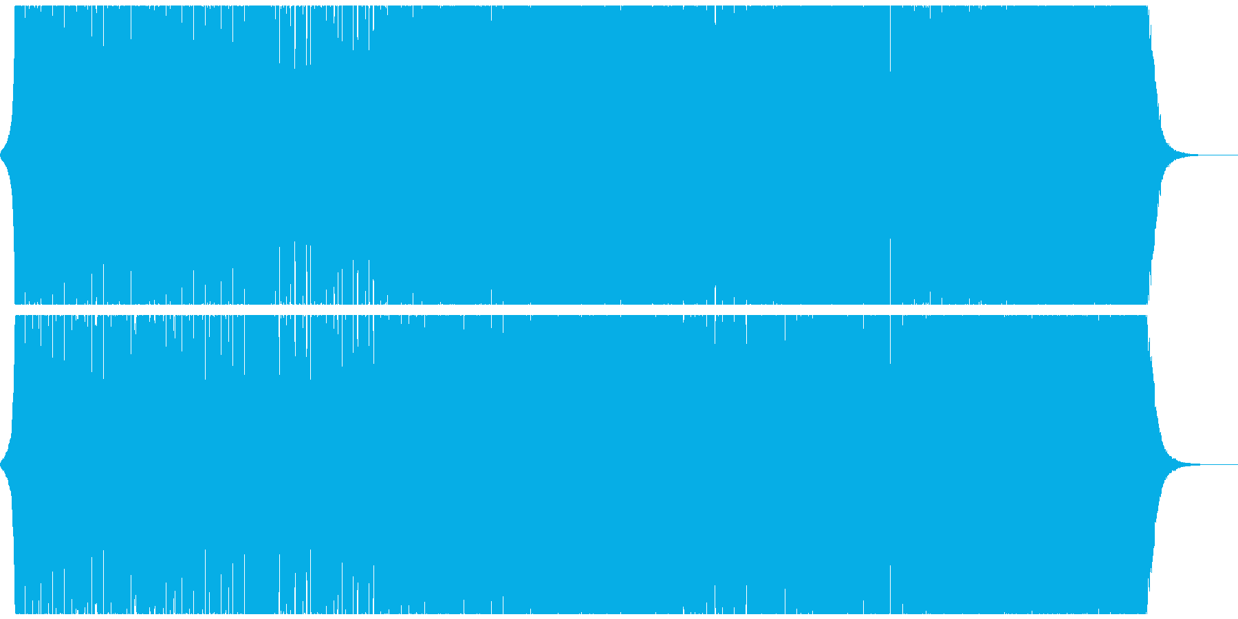 エキサイティングでキレのあるエレクトロの再生済みの波形