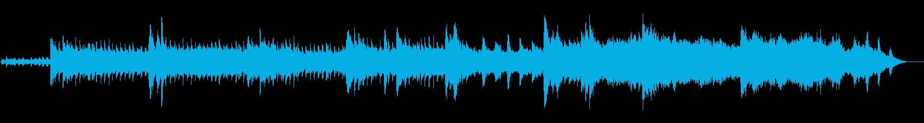 未来へ羽ばたく様な優しいショートBGMの再生済みの波形