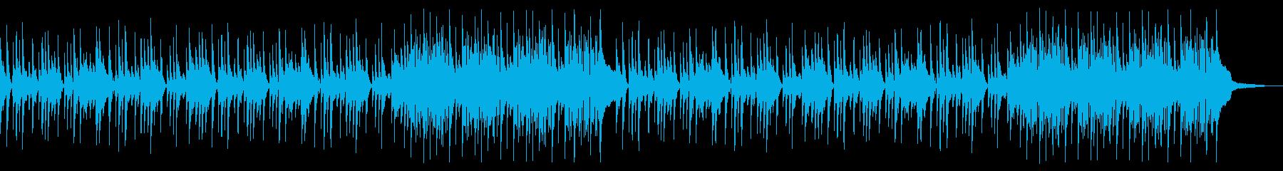 ほのぼのとした日常を感じるポップBGMの再生済みの波形