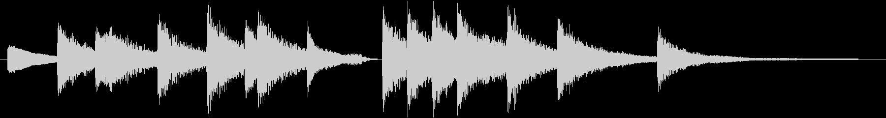 モミの木モチーフXmasピアノジングルAの未再生の波形
