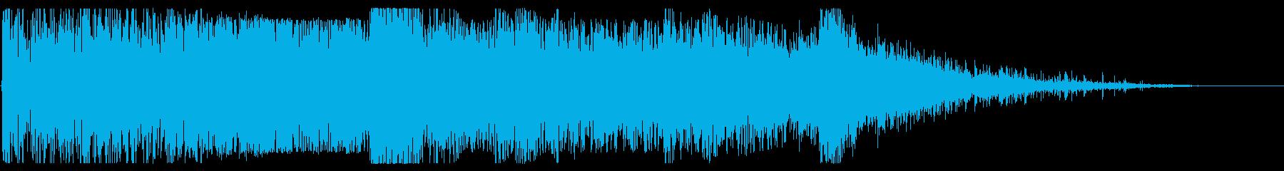 重い複数の爆発衝撃爆風、溶射破片の再生済みの波形