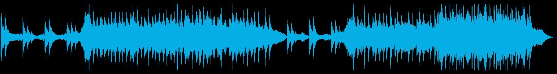 おしゃれで幻想的で切ないピアノ曲の再生済みの波形