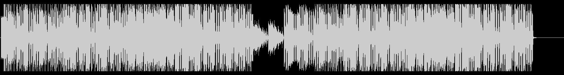 シンセベースのリフが印象的なBGMの未再生の波形