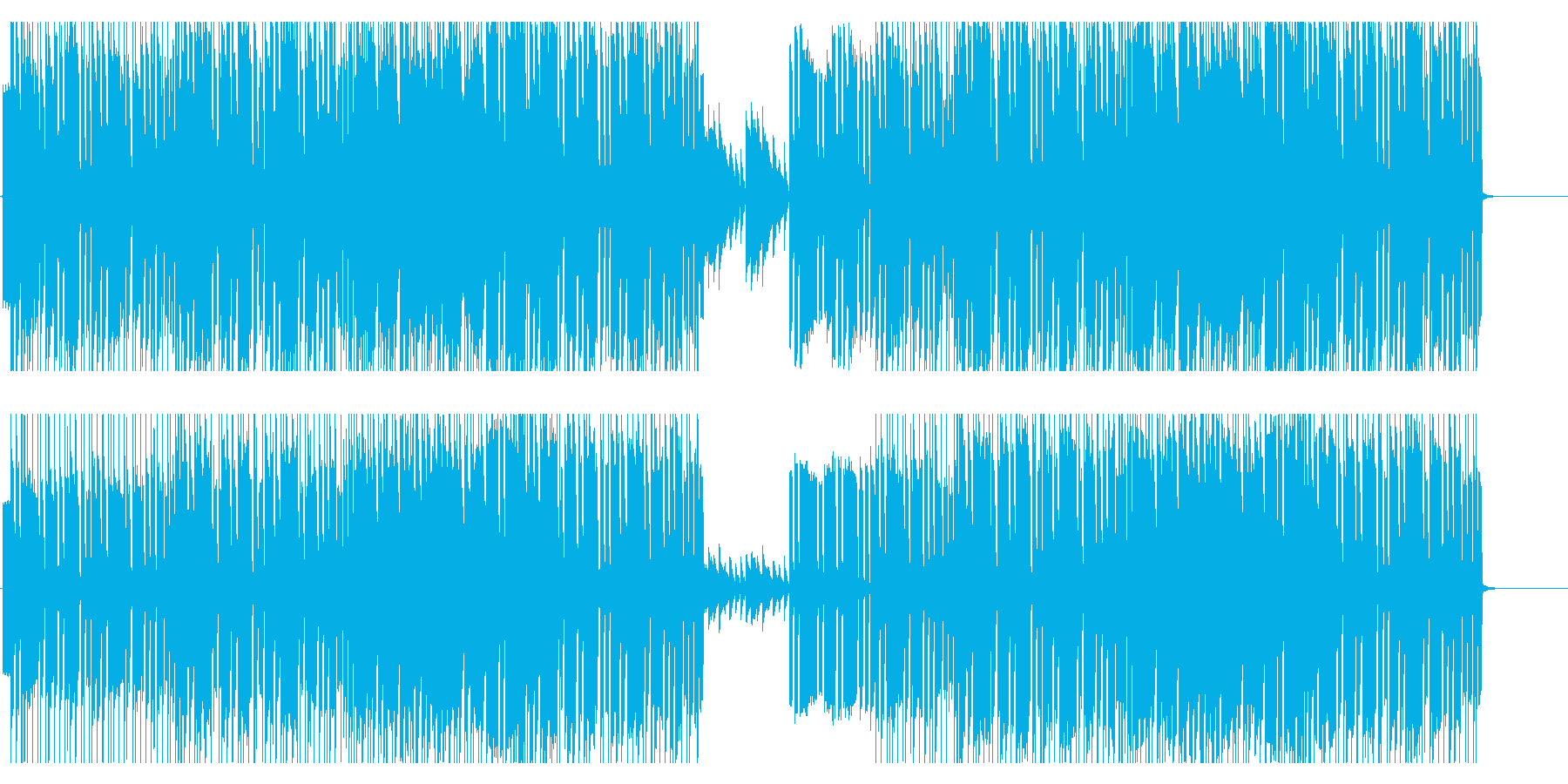 シンセベースのリフが印象的なBGMの再生済みの波形