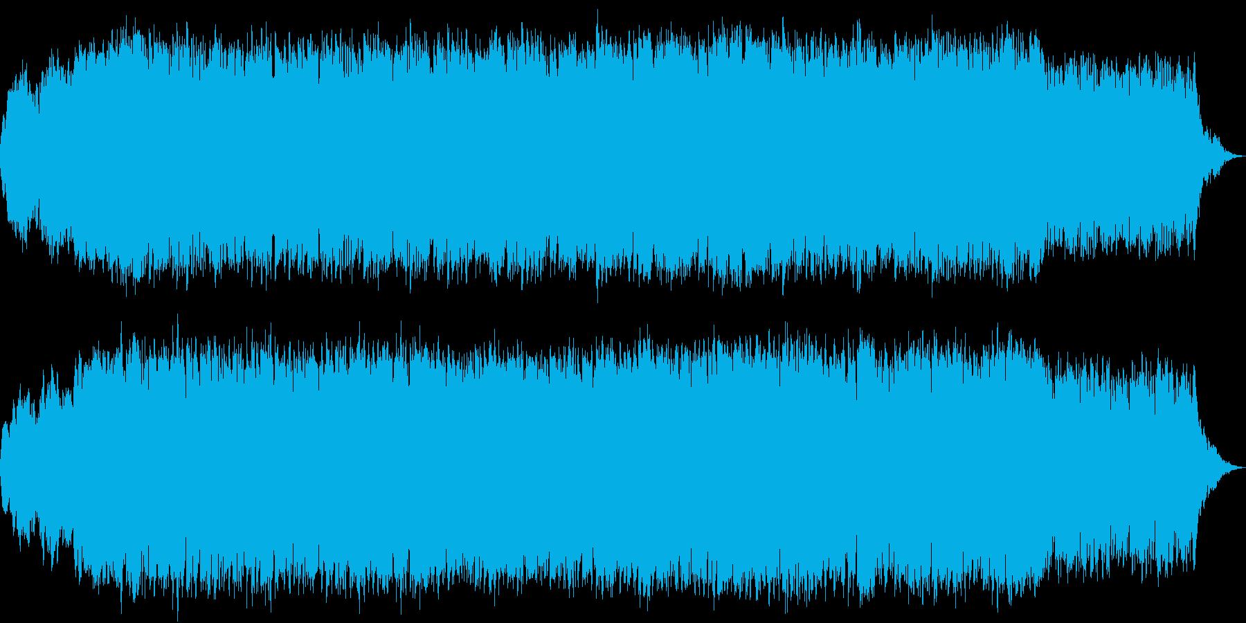 和風のダンスミュージックの再生済みの波形