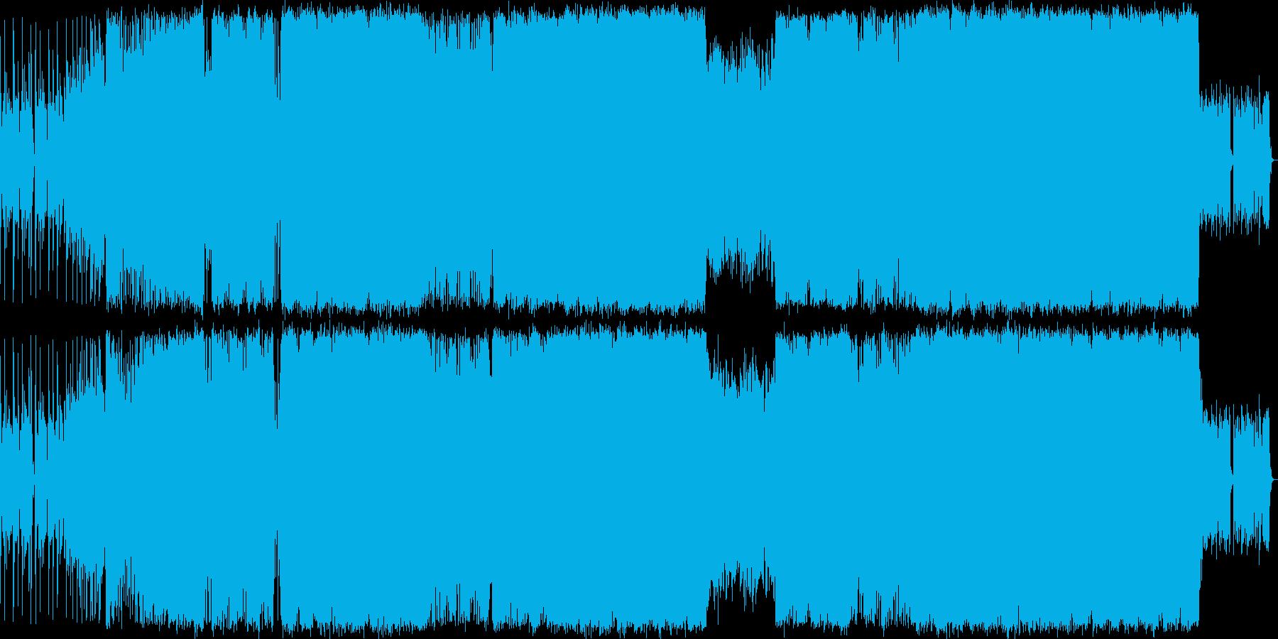 疾走感のあるデジタル・ロックの再生済みの波形