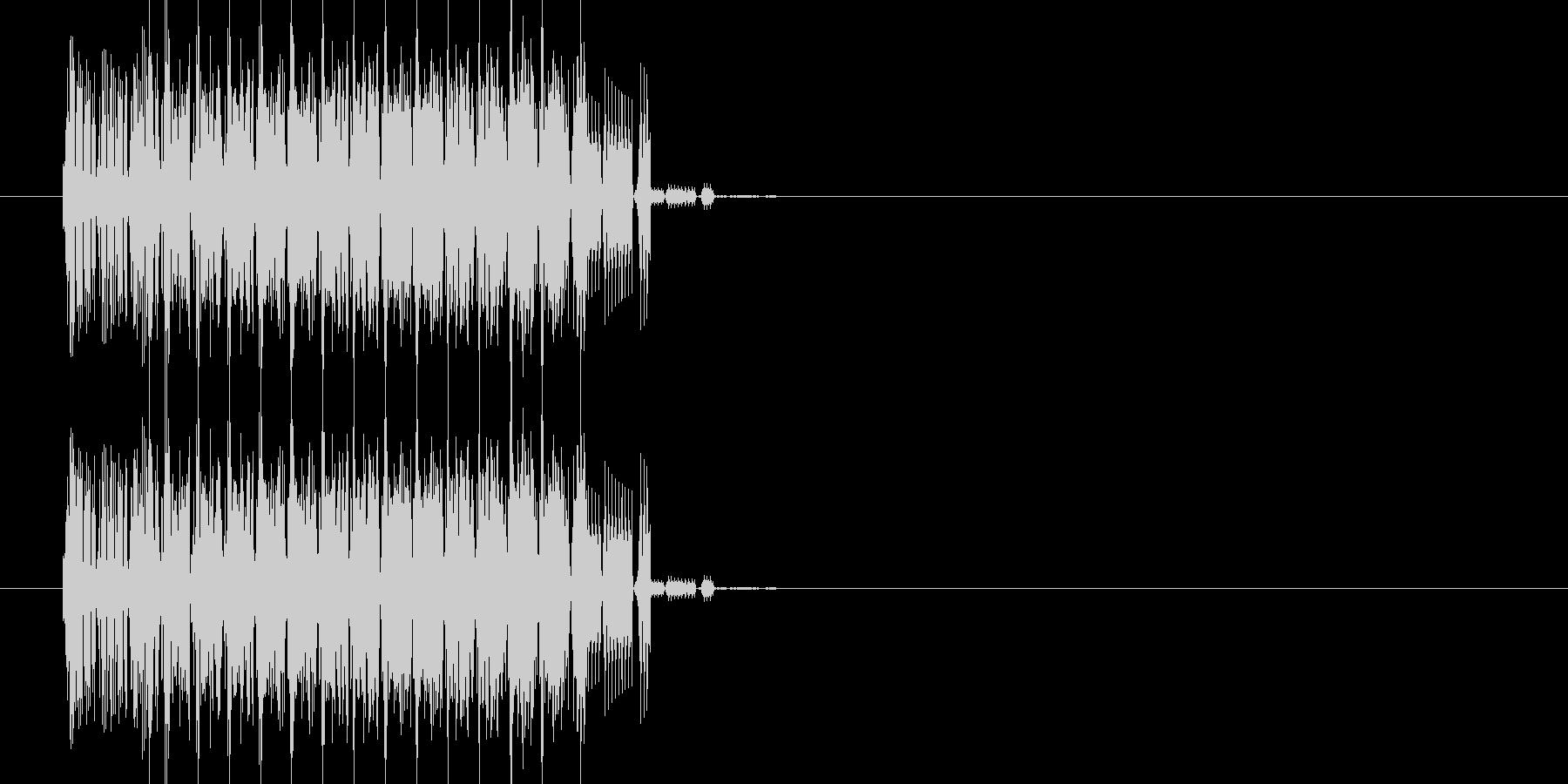 ファミコン風 上昇音の未再生の波形