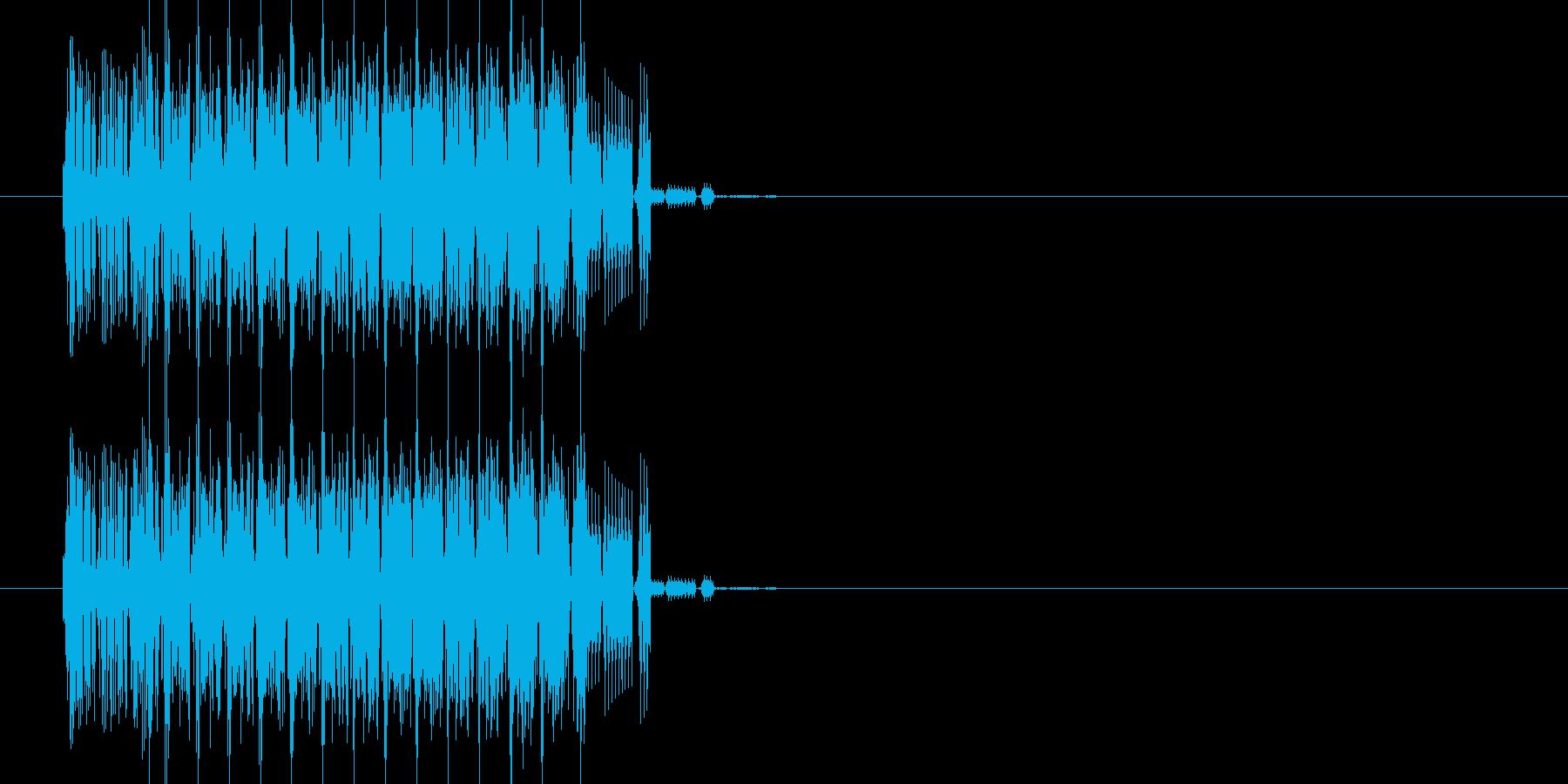 ファミコン風 上昇音の再生済みの波形