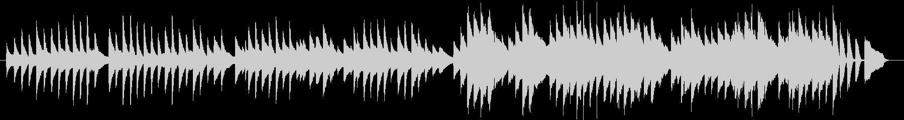 アルプス一万尺(ピアノカバー)の未再生の波形
