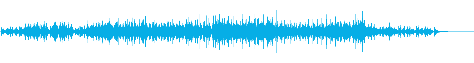 前向きに進んで行くようなピアノソロ曲の再生済みの波形