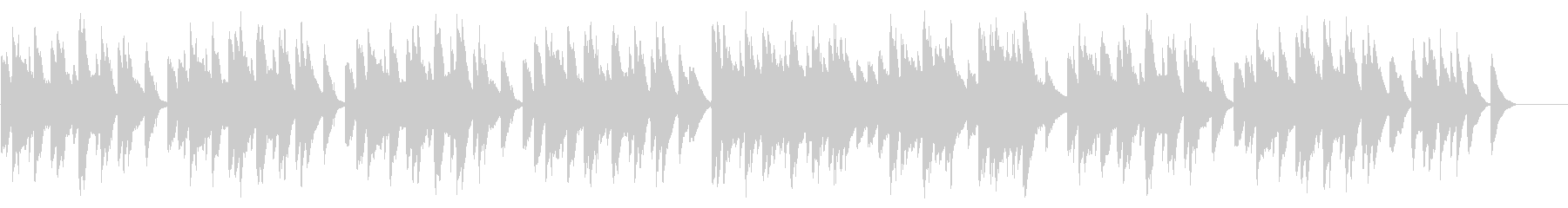 SNS広告 ピアノメイン かわいいの未再生の波形