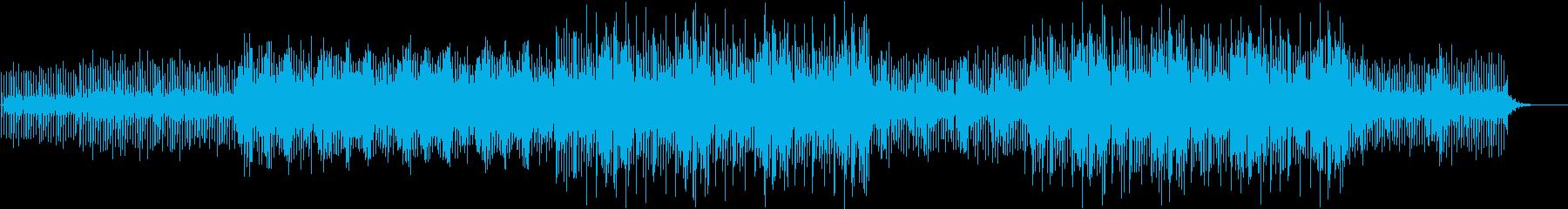 近未来的でポップな瑞々しい曲の再生済みの波形