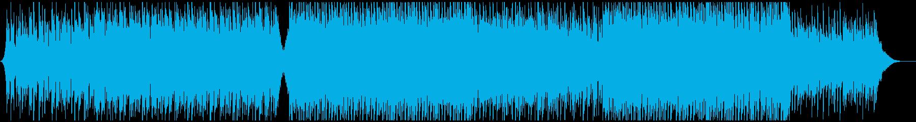 企業向ギター爽やかオープニング感動ポップの再生済みの波形