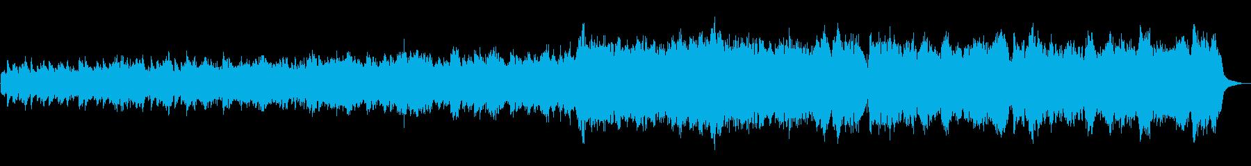 哀愁のあるオーボエのワルツの曲の再生済みの波形