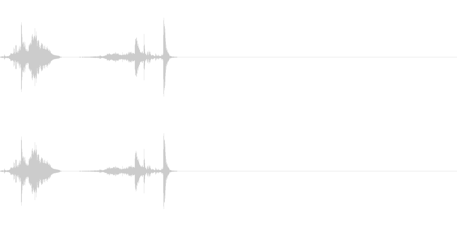 納刀にの未再生の波形