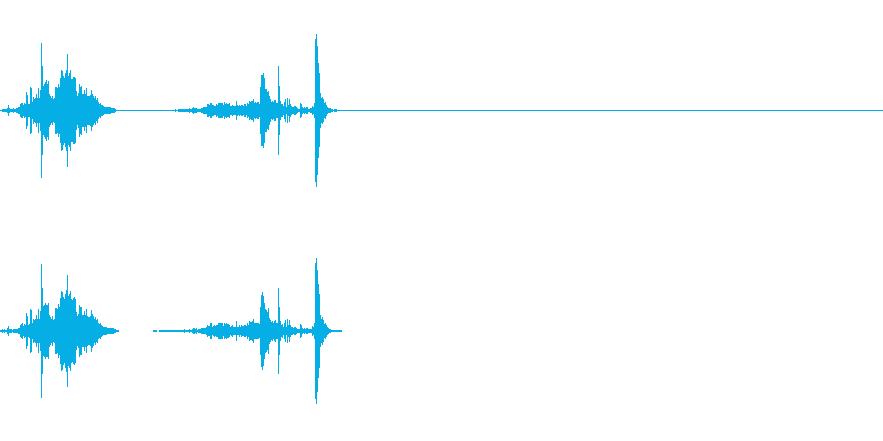 納刀にの再生済みの波形