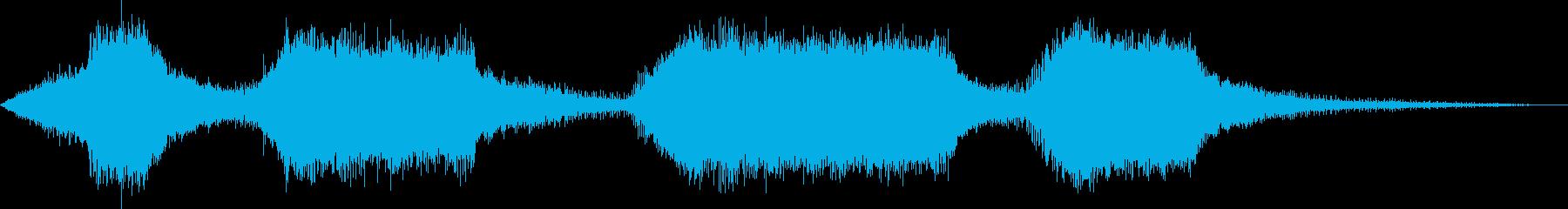 チェーンソー-操作-木材の切断の再生済みの波形