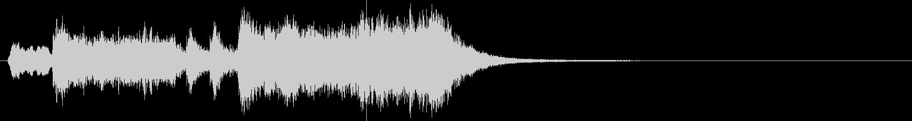 シンプルなオーケストラファンファーレの未再生の波形