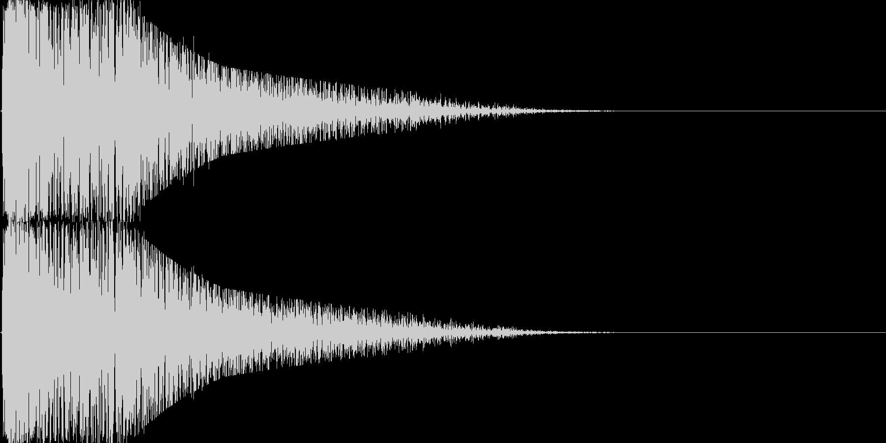 雷、ピカ!ゴロゴロ…普通のカミナリの未再生の波形