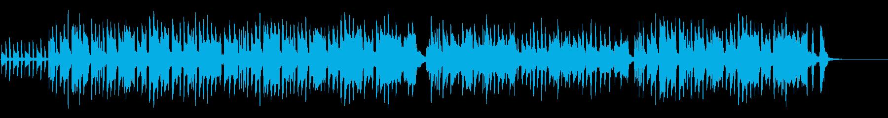 古風でシンプルなワルツの再生済みの波形