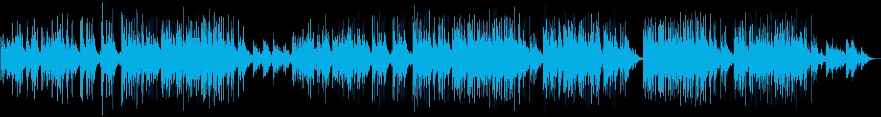 ゆったりしたほのぼのバラードBGMの再生済みの波形
