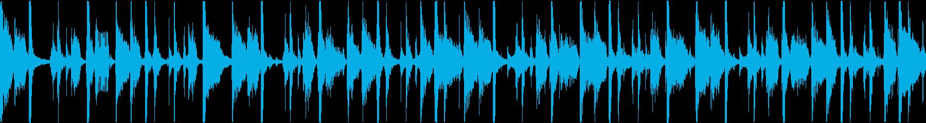 心地よい重低音が特徴的なトラックの再生済みの波形