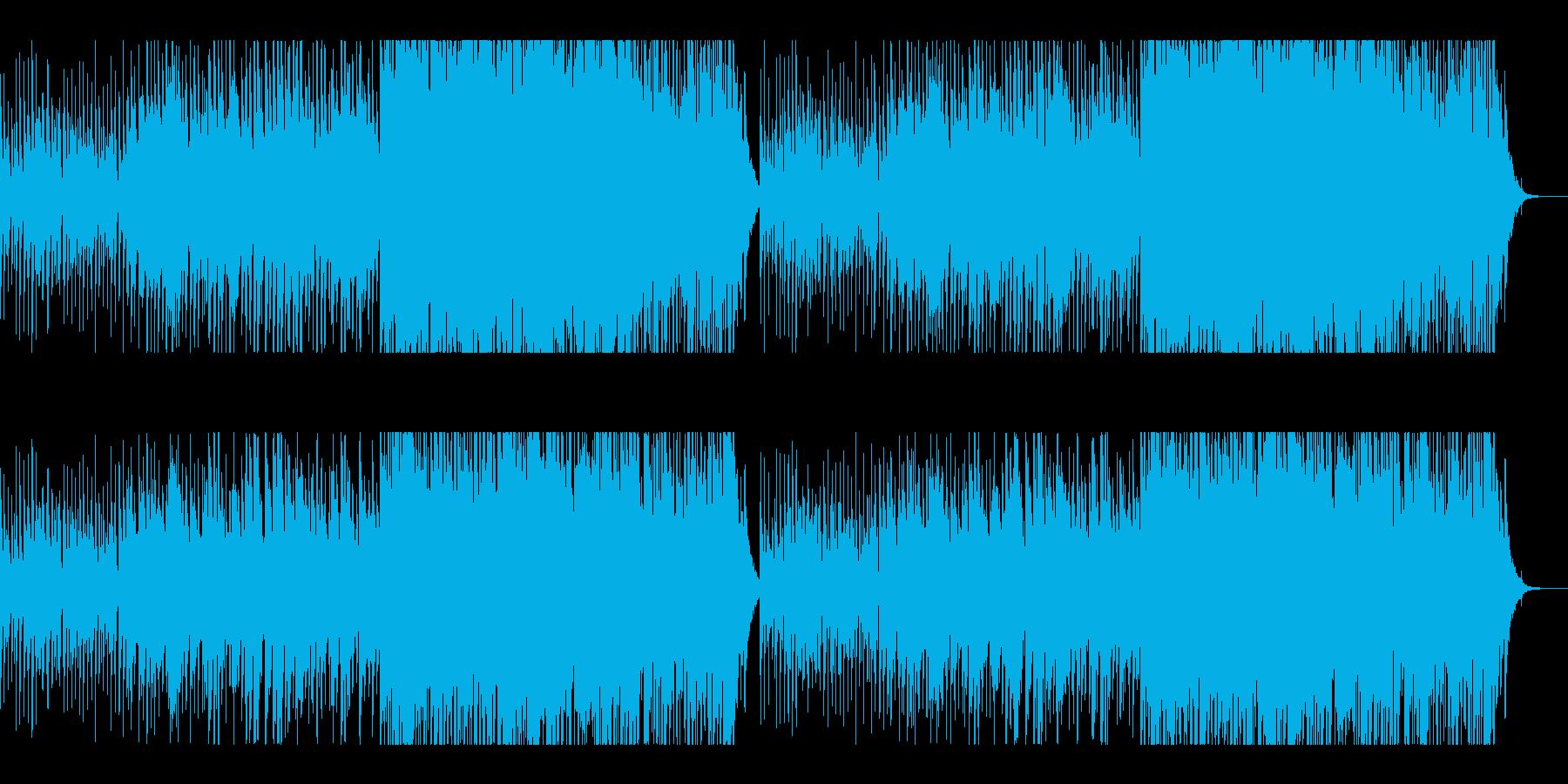 ハワイアン風BGMですの再生済みの波形