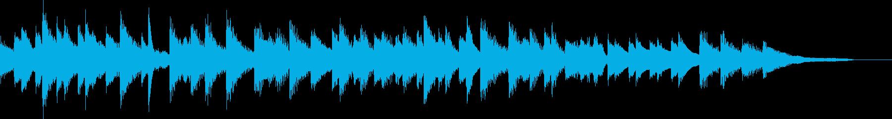 秋の夜のスローテンポジャズピアノジングルの再生済みの波形