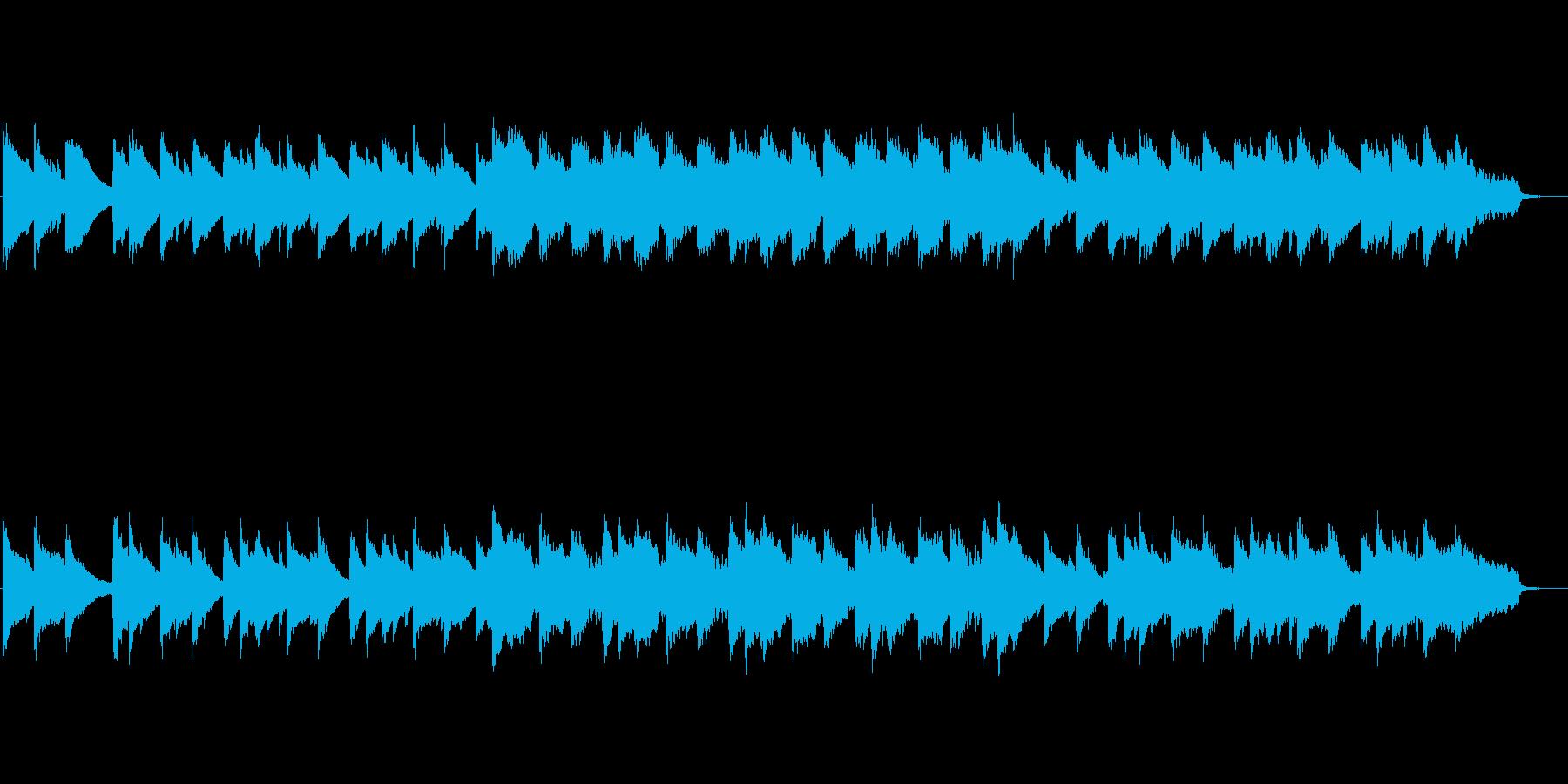 ピアノとストリングスの静かなバラードの再生済みの波形
